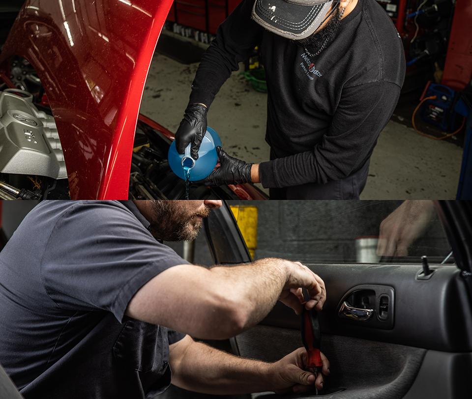 Metro Motor Palisades mechanics at Parker's Exxon